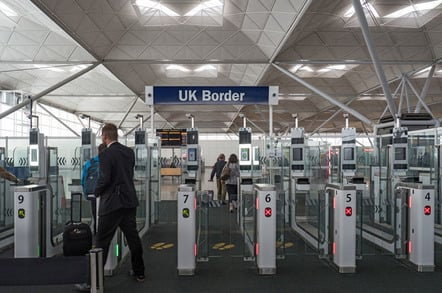 UK border control photo via Shutterstock
