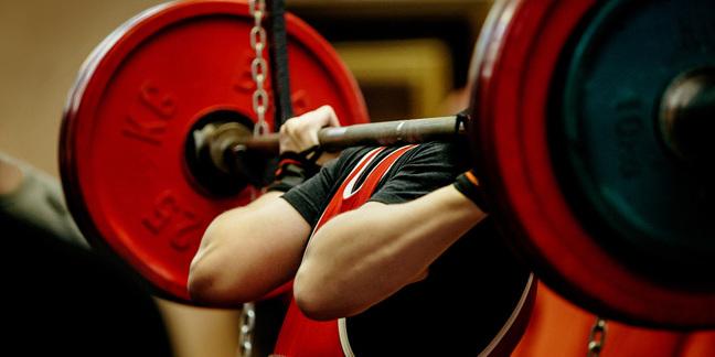 Weight lifter photo via Shutterstock