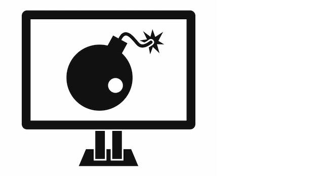Bomb on PC screen