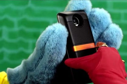 Screengrab of motorola modular phones