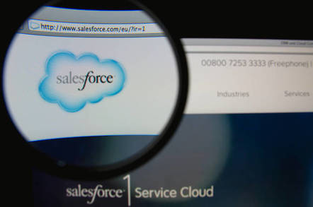 Salesforce web page