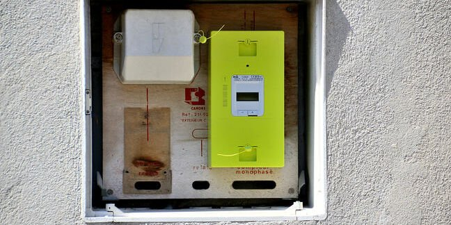 Paris, France - July 16, 2016 : New smart electric meter Linky from ERDF (Electricity Network Distribution France). Photo by GERARD BOTTINO / Shutterstock.com Editorial use only