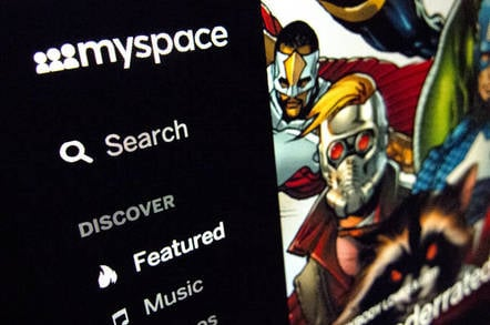 Myspace screengrab.  Editorial credit: thelefty / Shutterstock.com