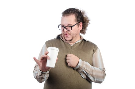 Man coffee photo via Shutterstock