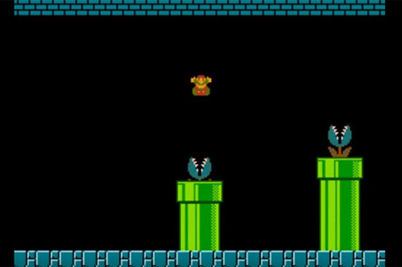 Screesnhot from SUper mARIO 1985 GAME (WORLD 1-2)