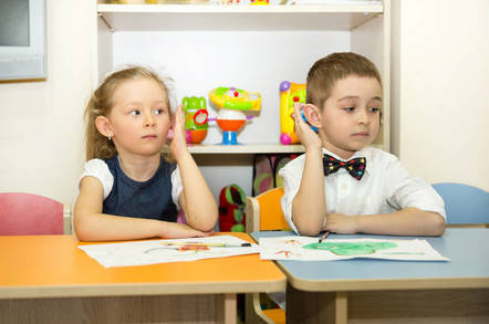 Kids in preschool class