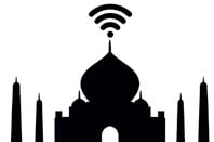 Taj Mahal with WiFi logo