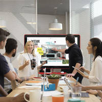 People using a Google Jamboard