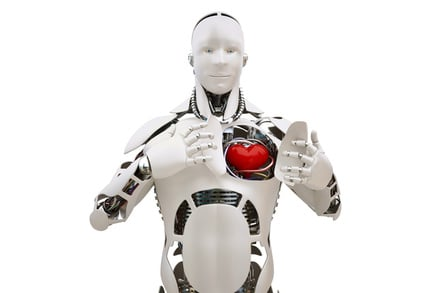 Robot bares its heart... Illustration via SHutterstock