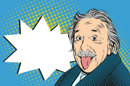 Einstein photo via Shutterstock