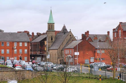 Townscape view in Bolton, UK. Bolton is part of Greater Manchester, one of largest population areas in the UK (2.68m people living in the county). pic by tupangato/shutterstock - editorial use only