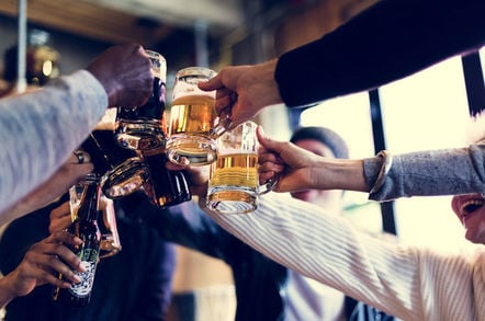 It's beer o clock for sysadmins. Photo by SHutterstock