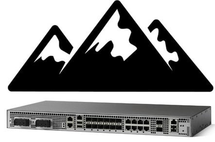 Cisco ASR 920 with mountains