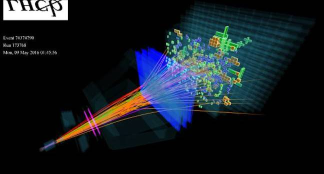 CERN particle trace visualisation