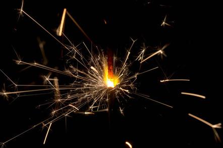 Sparks photo via Shutterstock