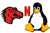 Mozilla Netflix and Tux logos