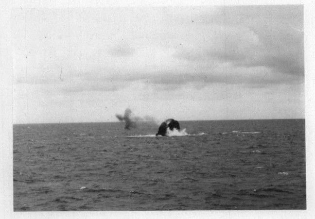 Bang! The immediate aftermath of Operation Top Hat on Rockall, 3.15pm, 13 June June 1971. Crown copyright