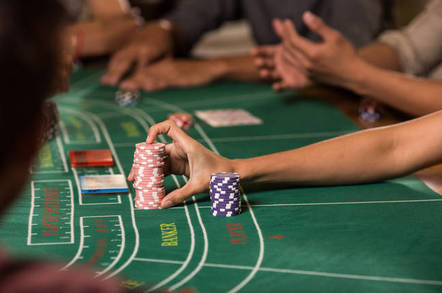 IBM REDUNDANCY PROGRAMME BACCARAT - CARD GAME . pic by shutterstock