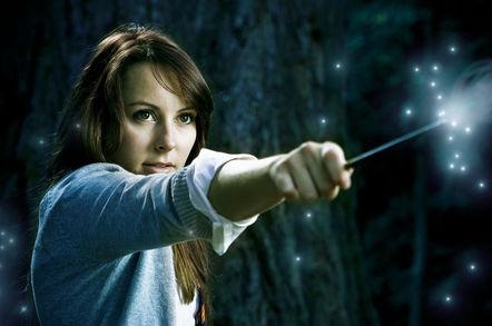 Wielding the magic wand. Photo by Shutterstock