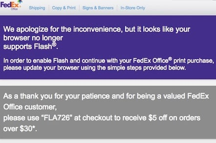FedEx's No Flash offer