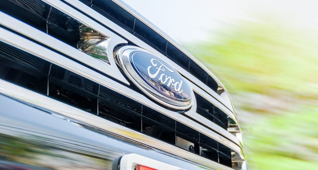 Ford truck photo via Shutterstock