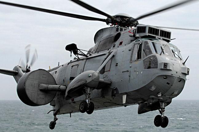 A Royal Navy 'bagger' Sea King Mk.7. Crown copyright