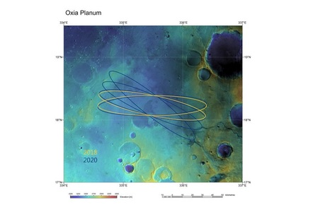 Oxia Planum, one of two possible landing sites for the ExoMars 2020 mission
