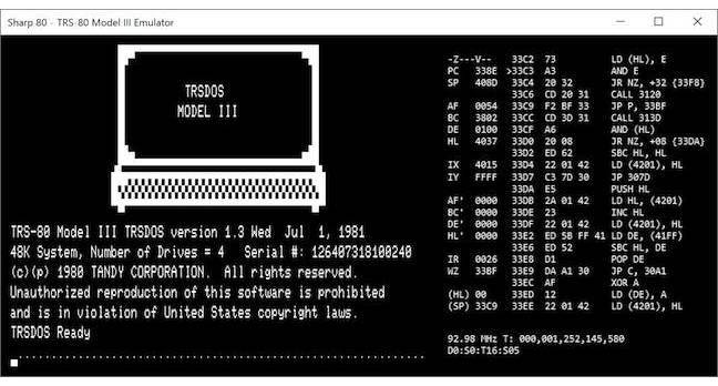 TRS-80 Model III emulator