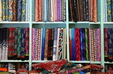 Fabric bolts photo via Shutterstock