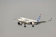 The first A319 takes to the skies