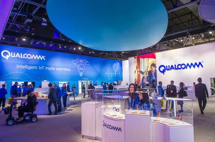 The Qualcomm booth at the CES show held in Las VegasEditorial credit: Kobby Dagan / Shutterstock.com