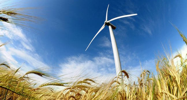 Wind turbine photo via Shutterstock