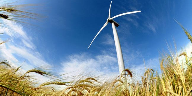 Wind turbine photo via Shutterstock
