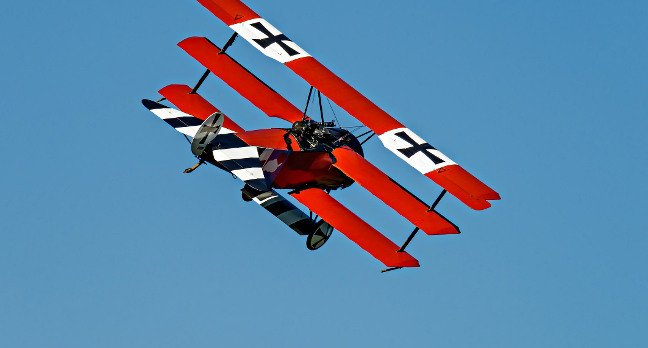 A Fokker Triplane replica at Old Rhinebeck airfield, America, in September 2016. Pic: Shutterstock