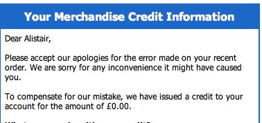 Generous credit