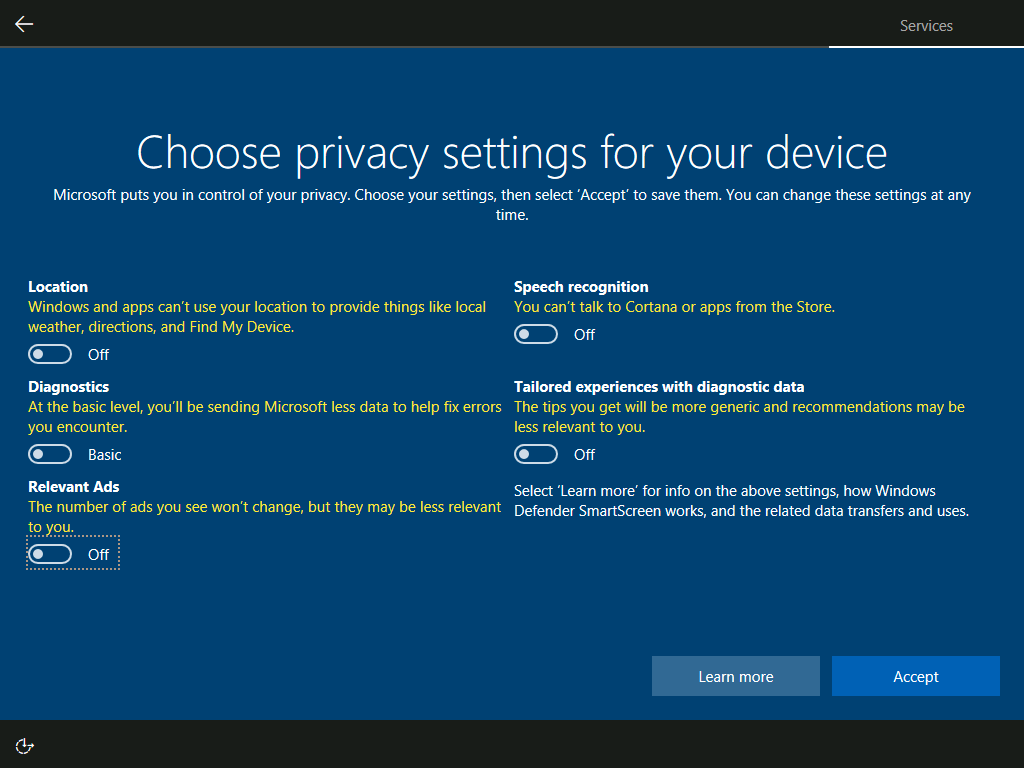 how to turn off windows defender windows 10 1703