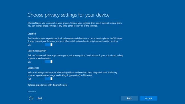 The simplified privacy screen when you update - but enjoy it while you can as you may not see it again