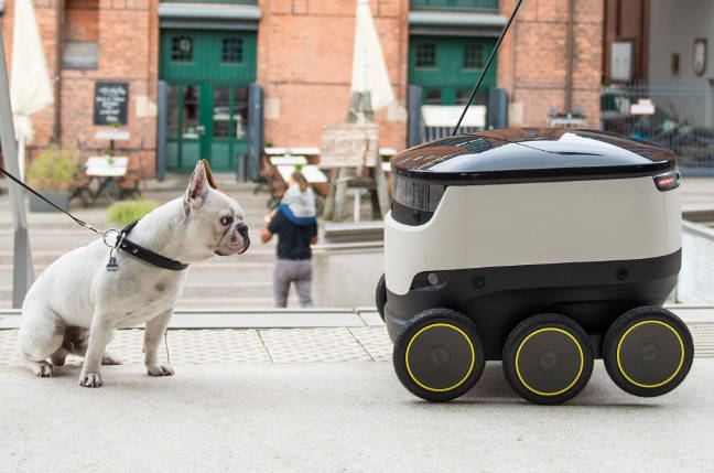 Delivery firm Hermes trials self-driving robots in London