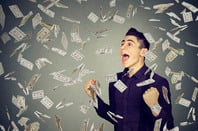Money explosion photo via Shutterstock