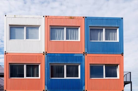 Houses in shipping containers