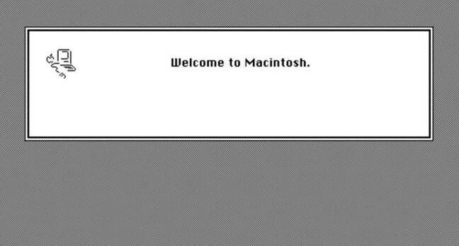 Welcome to Macintosh screen