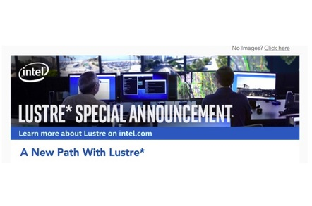 Intel's email announcing the death of its lustre distro