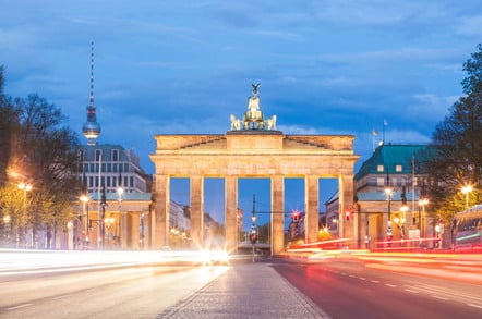 Berlin Brandenburg Gate photo via Shutterstock