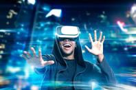 man virtual reality headset. pic shutterstock