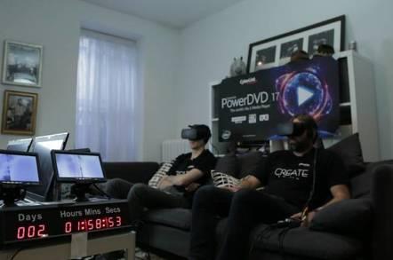 VR viewing marathon image