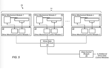 A figure from Amazon's patent for de-composed disks