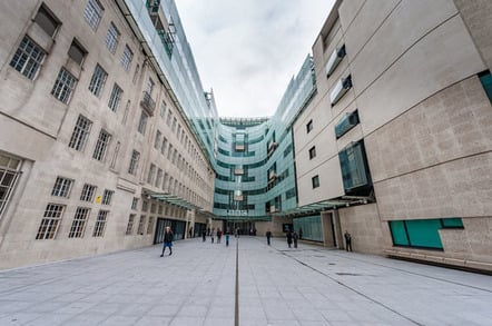 BBC broadcasting house photo via Shutterstock