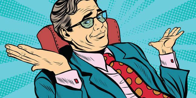 businessman shrugging - illustration via shutterstock