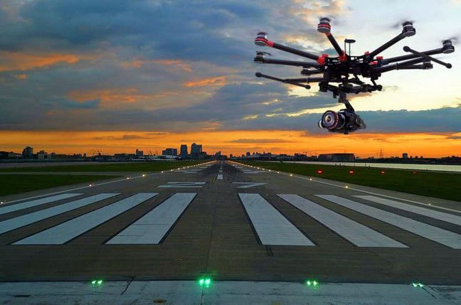 Canard Drones inspects airfield lighting with, er, drones. Pic: Breed Reply