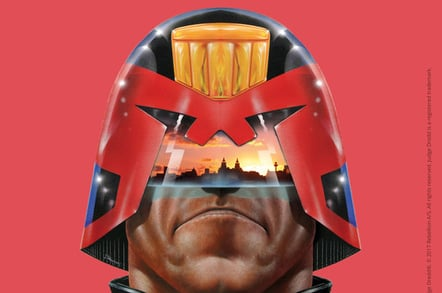 Judge Dredd®. © 2017 Rebellion A/S. All rights reserved. Judge Dredd is a registered trademark. McCoy Wynne Photography